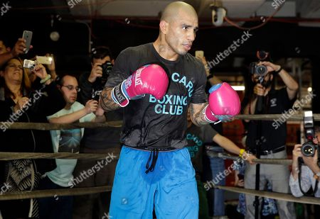 Miguel Cotto Boxer Miguel Cotto works out at a gym in the Brooklyn borough of New York, . Cotto is slated to defend his WBC world middleweight title against Daniel Geale on Saturday, June 6, at Barclays Center in the Brooklyn