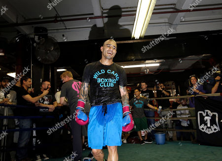 Miguel Cotto Boxer Miguel Cotto smiles during an open work out at a gym in the Brooklyn borough of New York, . Cotto is slated to defend his WBC world middleweight title against Daniel Geale on Saturday, June 6, at Barclays Center in the Brooklyn
