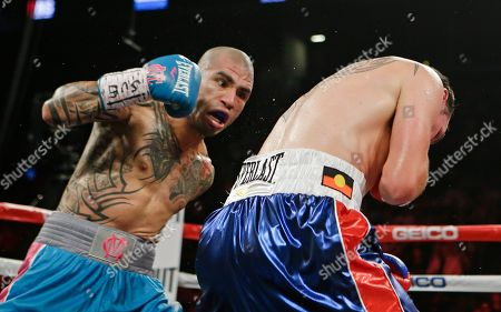 Miguel Cotto Miguel Cotto, left, of Puerto Rico, punches Daniel Geale, of Australia, during the second round of a boxing match, in New York