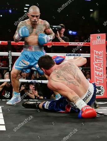Editorial picture of Geale Cotto Boxing, New York, USA