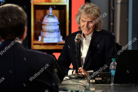 "Don Imus Cable television and radio personality Don Imus, right, interviews Neil Cavuto, during his last ""Imus in the Morning"" program, on the Fox Business Network, in New York . Imus show, nationally simulcast on radio on Cumulus Media Networks, was his final on Fox Business Network, where he has appeared since 2009"