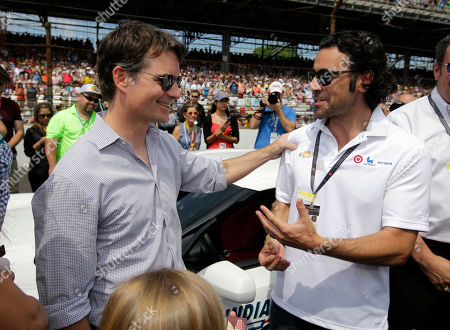 Jeff Gordon, Dario Franchitti Pace car driver Jeff Gordon, left, talks with former Indy 500 champion Dario Franchitti before driving the pace car for the 99th running of the Indianapolis 500 auto race at Indianapolis Motor Speedway in Indianapolis