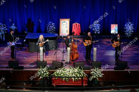 Stock Image of Rhonda Vincent Rhonda Vincent and her band perform during the funeral service for country music performer Jim Ed Brown at the Ryman Auditorium, in Nashville, Tenn. Brown, who was a member of the Grand Ole Opry and was recently elected to the Country Music Hall of Fame, died June 11. He was 81