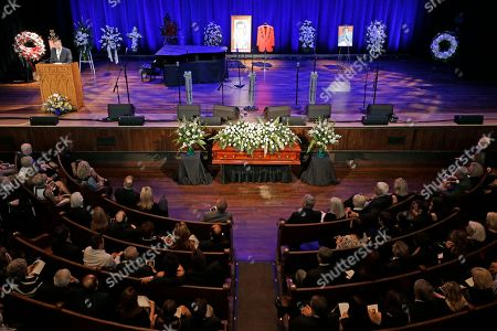 The funeral service for country music performer Jim Ed Brown is held in the Ryman Auditorium, in Nashville, Tenn. Brown, who was a member of the Grand Ole Opry and was recently elected to the Country Music Hall of Fame, died June 11. He was 81