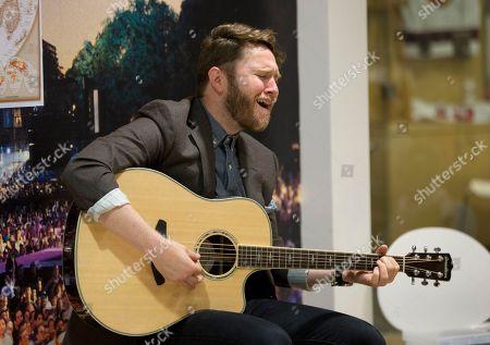 Recording artist Luke Wade sings for patients at Children's Healthcare of Atlanta at Scottish Rite, in in Atlanta