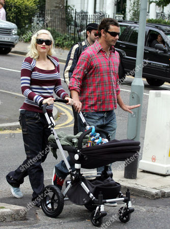 Gwen Stefani and Gavin Rossdale with baby Kingston James