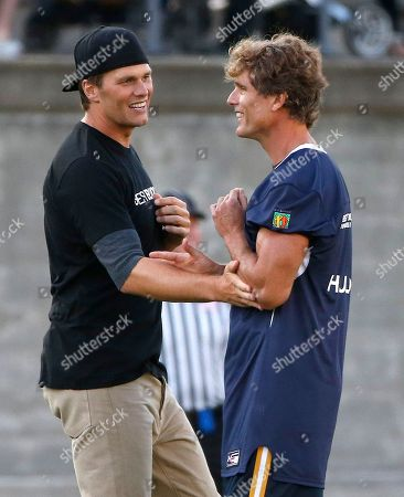 Tom Brady, Anthony Kennedy Shriver New England Patriots' Tom Brady, left, and Anthony Kennedy Shriver during the Best Buddies Challenge charity football game in Boston
