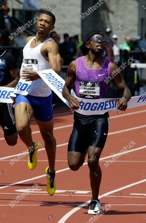 Bershawn Jackson, Johnny Dutch Bershawn Jackson, right, wins the 400-meter hurdles ahead of Johnny Dutch at the U.S. track and field championships in Eugene, Ore