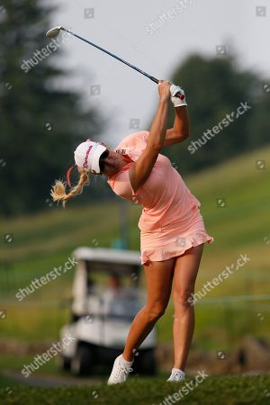 Natalie Gulbis Natalie Gulbis tees off the eighth hole during the KPMG Women's PGA golf championship at Westchester Country Club, in Harrison, N.Y