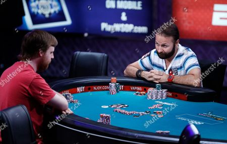 Stock Image of Joseph McKeehen, Daniel Negreanu Daniel Negreanu, right, looks at Joseph McKeehen as they play at the World Series of Poker Main Event in Las Vegas. Negreanu is a poker hall-of-famer and two-time World Series of Poker player of the year. But he's never made it to the final table in the tournament's marquee Main Event in Las Vegas. Twice, in 2001 and 2015, he missed by just two seats. This weekend, the 41-year-old who lives in Las Vegas will give it a 19th try