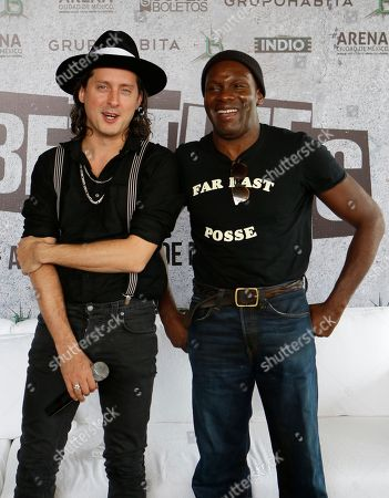 Carl Barat, Gary Powell Guitarist Carl Barat, left, and drummer Gary Powell, of the English rock band The Libertines, pose for pictures following a press conference in Mexico City. The Libertines will perform at Mexico City Arena on Oct. 5