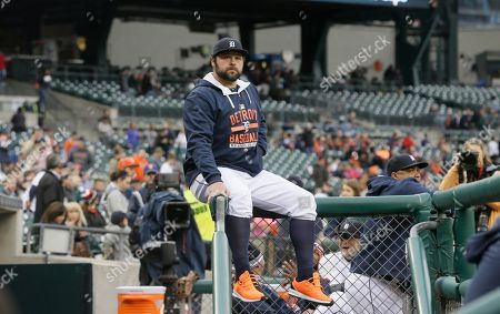 Joba Chamberlain Detroit Tigers relief pitcher Joba Chamberlain sits on the dugout railings before the first inning of an interleague baseball game against the Milwaukee Brewers, in Detroit