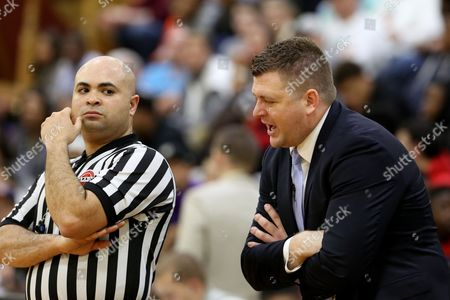 Andy Johnson Findlay Prep head coach Andy Johnson talks with a ref against Montverde Academy in the DICK'S Sporting Goods High School National Basketball Tournament on in Queens, NY