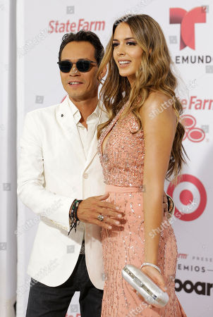 Marc Anthony, Shannon DeLima Singer Marc Anthony and his wife Shannon de Lima arrive at the Latin Billboard Awards in Coral Gables, Fla