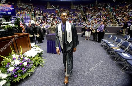 Damian Lillard Portland Trail Blazers point guard Damian Lillard walks on to the floor of the Dee Events Center during Weber State's commencement exercises, in Ogden, Utah. Lillard graduated with a degree in professional sales from the College of Applied Science & Technology