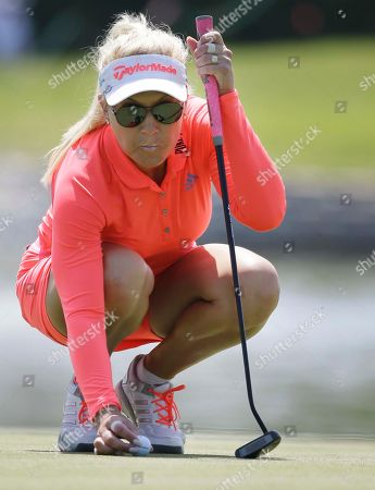 Natalie Gulbis Natalie Gulbis lines up a putt on the 11th hole during the second round of the LPGA North Texas Shootout golf tournament, in Irving, Texas