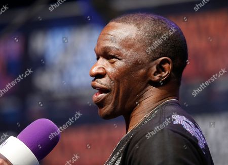 Floyd Mayweather Jr Floyd Mayweather Sr. speaks with the media during an arrival ceremony, in Las Vegas. Mayweather will face Manny Pacquiao in a welterweight boxing match in Las Vegas on May 2