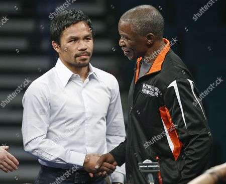 Floyd Mayweather Sr., Manny Pacquiao Manny Pacquiao, left, shakes hands with Floyd Mayweather Sr. during a press conference following their welterweight title fight on in Las Vegas. Mayweather defeated Pacquiao in a unanimous decision