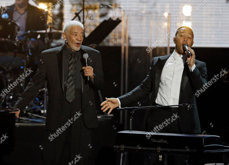 Bill Withers, John Legend Bill Withers, left, and John Legend perform at the Rock and Roll Hall of Fame induction ceremonies, in Cleveland