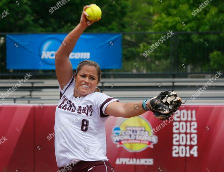 Rachel Fox Texas A&M starting pitcher Rachel Fox pitches in the first inning of a Division I NCAA college softball game against Lehigh in Norman, Okla., . Texas A&M won 2-1 and moves on to face the winner of the Central Arkansas - Oklahoma game