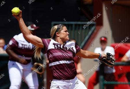 Editorial photo of NCAA Oklahoma Texas AM Softball, Norman, USA