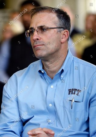 Pat Narduzzi Pittsburgh football coach Pat Narduzzi listens as Scott Barnes is introduced as the university's new athletic director, in Pittsburgh