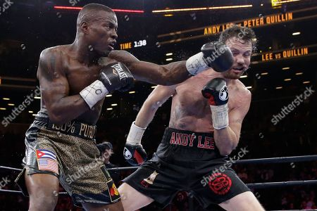 Andy Lee, Peter Quillin Peter Quillin punches Andy Lee in the eighth round during a middleweight boxing match, in New York. The match ended in a draw