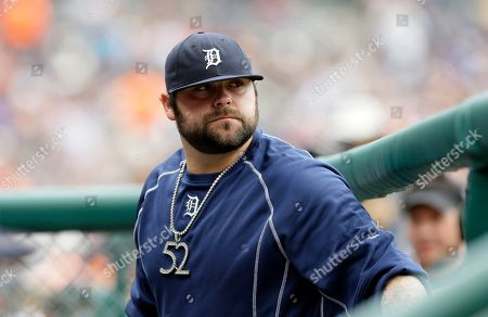 Joba Chamberlain Detroit Tigers relief pitcher Joba Chamberlain is seen in the dugout before the first inning of a baseball game against the Kansas City Royals, in Detroit