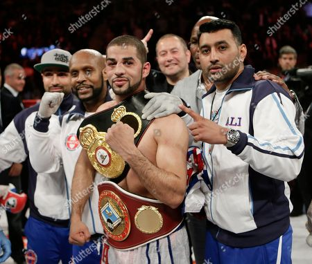 Sadam Ali Sadam Ali poses for a photograph after defeating Francisco Santana in a boxing bout, at Madison Square Garden in New York