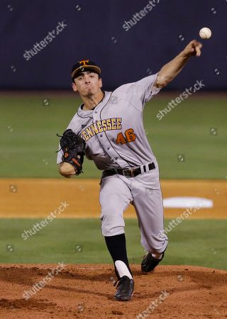 Andy Cox Tennessee pitcher Andy Cox delivers agasint Arkansas in the first inning during a Southeastern Conference college baseball tournament game, in Hoover, Ala
