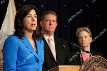 Brendan Kelly, Anita Alvarez, Polly Poskin Cook County State's Attorney Anita Alvarez, left, speaks at a news conference accompanied by St. Clair County State's Attorney Brendan Kelly, and Polly Poskin, Executive Director of the Illinois Coalition Against Sexual Assault, in Chicago. The three joined Illinois Attorney General Lisa Madigan, in announcing the creation of a working group tasked with improving prosecution rates of sexual assault cases in the state