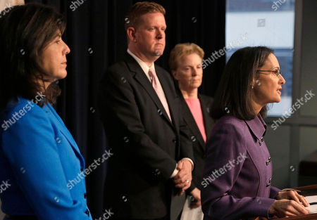 Brendan Kelly, Anita Alvarez, Lisa Madigan, Polly Poskin Illinois Attorney General Lisa Madigan, right, speaks at a news conference accompanied by from left, Cook County State's Attorney Anita Alvarez, St. Clair County State's Attorney Brendan Kelly, and Polly Poskin, Executive Director of the Illinois Coalition Against Sexual Assault, in Chicago. Madigan announced the creation of a working group tasked with improving prosecution rates of sexual assault cases in the state
