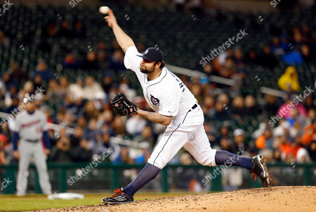 Joba Chamberlain Detroit Tigers pitcher Joba Chamberlain throws against the Minnesota Twins in the eighth inning of a baseball game in Detroit