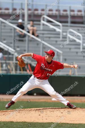 Alex Katz St. John's pitcher Alex Katz #12 in action against Villanova during a college baseball game on in Queens, NY. Villanova won the game