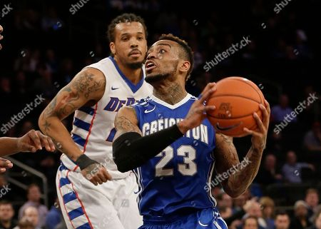 James Milliken Creighton's James Milliken (23) drives past DePaul's Jamee Crockett (21) during the second half of an NCAA college basketball game in the first round of the Big East Conference tournament, in New York. Creighton won the game 78-63
