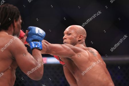 Linton Vassell Linton Vassell, right, in action against Rameau Thierry Sokoudjou during their ifght at Bellator 134, in Uncasville, CT. Vassell won the fight in the second round via unanswered strikes