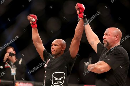 Stock Picture of Linton Vassell Linton Vassell is declared the victor against Rameau Thierry Sokoudjou during their fight at Bellator 134, in Uncasville, CT. Vassell won the fight in the second round via unanswered strikes