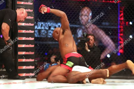 Rameau Thierry Sokoudjou, Linton Vassell Linton Vassell, top, lands the fight-ending sequence against Rameau Thierry Sokoudjou during their fight at Bellator 134, in Uncasville, CT. Vassell won the fight in the second round via unanswered strikes