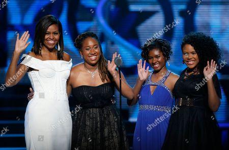 Editorial picture of Black Girls Rock Obama, Newark, USA