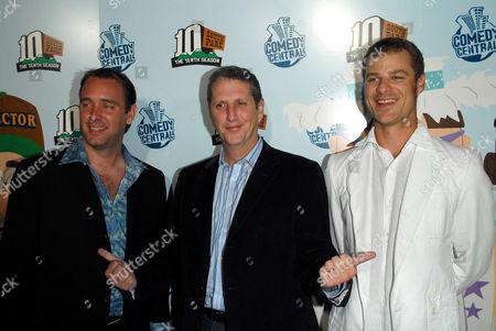 Trey Parker, Doug Herzog and Matt Stone