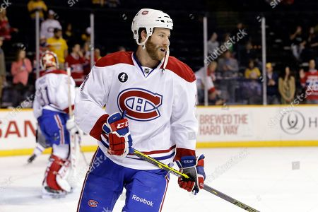 Brandon Prust Montreal Canadiens right wing Brandon Prust warms up before an NHL hockey game against the Nashville Predators, in Nashville, Tenn