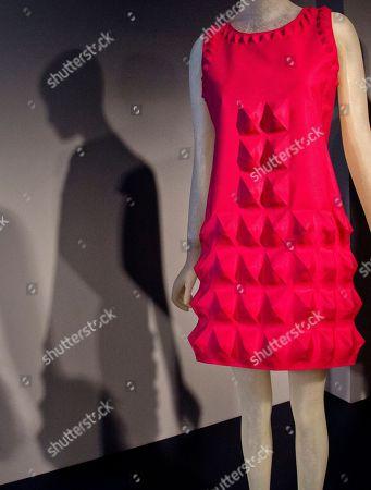 Editorial photo of Fashion Lauren Bacall Exhibit, New York, USA
