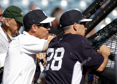 Joe Girardi, Billy Bean MLB inclusion ambassador Billy Bean, left, talks with New York Yankees manager Joe Girardi before a spring training baseball exhibition game against the Washington Nationals, in Tampa, Fla