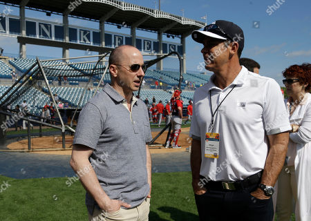 Brian Cashman, Billy Bean New York Yankees general manager Brian Cashman, left, talks with Billy Bean, an MLB inclusion ambassador, right, before a spring training baseball exhibition game between the New York Yankees and Washington Nationals, in Tampa, Fla
