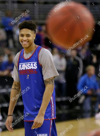 Kelly Oubre Jr Kansas guard Kelly Oubre Jr. laughs during practice for an NCAA college basketball tournament second round game, in Omaha, Neb. Kansas plays New Mexico State on Friday