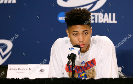 Kelly Oubre Jr Kansas guard Kelly Oubre Jr. speaks during a news conference before practice for an NCAA college basketball tournament second round game, in Omaha, Neb. Kansas plays New Mexico State on Friday