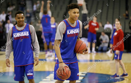 Kelly Oubre Jr Kansas guard Kelly Oubre Jr., center, laughs with teammates during practice for an NCAA college basketball tournament second round game, in Omaha, Neb. Kansas plays New Mexico State on Friday