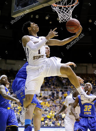 Cameron Payne, Billy Reader Murray State guard Cameron Payne (1) drives past Morehead State center Billy Reader during the first half of an NCAA college basketball game in the semifinals of the Ohio Valley Conference tournament, in Nashville, Tenn
