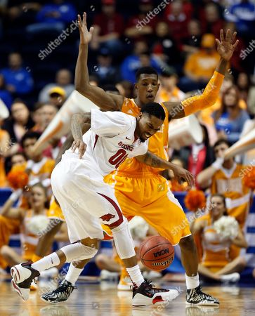 Editorial picture of SEC Tennessee Arkansas Basketball, Nashville, USA