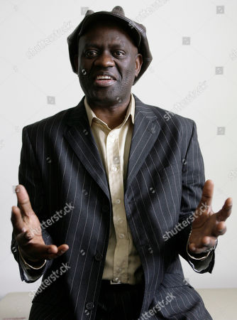 Alain Mabanckou Taken Jan. 30, 2007 shows artist and novelist Alain Mabanckou posing for a photo at the UCLA campus, where he teaches literature in Los Angeles, USA. Mabanckou, is one of 10 finalists for the Man Booker International Prize were announced, in Cape Town, South Africa. The prize winner will be announced in London on May 19